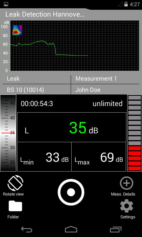 levelmeter applikácó