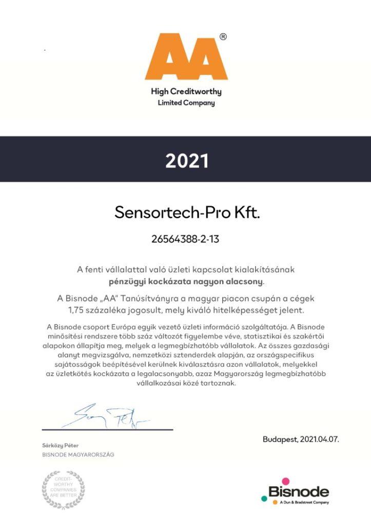 sensortech-pro kft bisnode